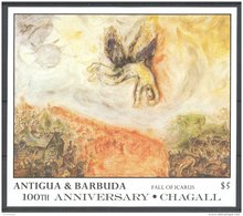 Antigua - 1987 Marc Chagall Block (1) MNH__(TH-5395) - Antigua And Barbuda (1981-...)
