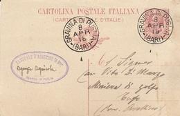 Gravina Di Puglia. 1918. Annullo Grande Cerchio GRAVINA DI PUGLIA (BARI) Su Cartolina Postale. BELLA. - Storia Postale