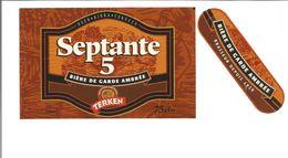 """Etiquette De BIERE """" SEPTENTE 5 - Bière De Garde TERKEN """" - Beer"""
