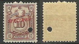PERU 1918 Paket Stamp Michel 42 SPECIMEN MNH - Peru