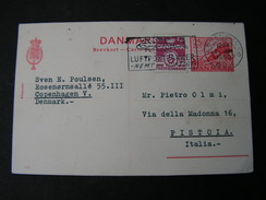 DK Karte1950 Luftpost Italien - Postal Stationery