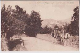 CAVAILLAC ET MOLIERES (ENVIRONS DU VIGAN) : BEL ATTELAGE DE CHEVAL - 2 SCANS - - Autres Communes