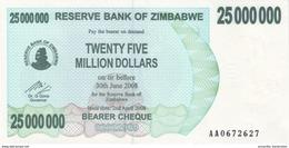 ZIMBABWE 25 MILLION DOLLARS 2008 P-56 UNC  [ZW147a] - Zimbabwe