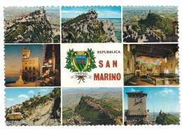 SAN MARINO VEDUTE E FRANCOBOLLI VIAGGIATA FG - San Marino