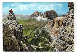 DOLOMITI STRADA DELLE DOLOMITI - PASSO SELLA    VIAGGIATA   FG - Bolzano (Bozen)