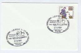 1991 Leipzig PHARMACY EVENT COVER Pmk Illus MORTAR PESTLE Health Medicine Stamps Germany - Pharmacy