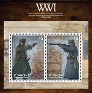 St Vincent 2014 - Cent 1ere Guerre Mondial, Autriche Et Hongrie Déclarent La Guerre A Russie - BF Neufs // Mnh-CV € - St.Vincent & Grenadines