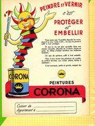 PROTEGE CAHIER  : Peindre Et Vernir Peinture CORONA - Protège-cahiers