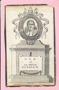 Bidprentje - GROOTEN PAUS PIUS IX Joannes Maria Mastai FERRETTI - Sinigaglia 1792 - Vatikaan Rome 1878 - Devotion Images