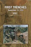 St Vincent (Bequia) 2014 - Centenaire 1ere Guerre Mondial, Les 1eres Tranchés - BF Neufs // Mnh - WW1