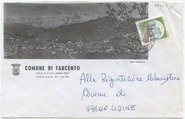 1984 FRIULI PROVINCIA UDINE BELLA BUSTA ILLUSTRATA COMUNE DI TARCENTO 15.2.83 AFFRANCATA CASTELLI L.400 ISOLATO (8137) - 6. 1946-.. Repubblica
