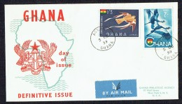 1959  Air Mail Definitives  Birds  SG 226-7  On REgistered FDC - Ghana (1957-...)