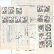 1989/95 CASTELLI SU BOLLETTINI PACCHI 3 DIVERSE AFFRANCATURE TARIFFE L. 4000 – 4800 - 6400 OTTIMA QUALITÀ (8159) - 6. 1946-.. Repubblica
