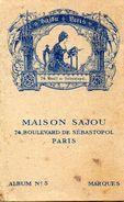 MAISON SAJOU Album No 5 Série Bleue *BRODERIES *TAPISSERIE AU POINT *AMEUBLEMENT *OUVRAGES DE DAMES Point De Croix - Point De Croix