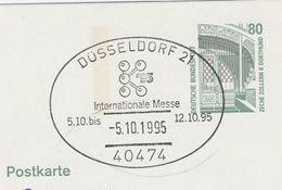 1995 Dusseldorf GERMANY COVER EVENT Pmk Illus CHEMICAL SCIENCE EMBLEM TRADE FAIR  Postal Stationery Card Stamp Chemistry - Chemistry
