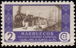 SPANISH MOROCCO - Scott #264 Commerce By Railroad (*) / Mint NH Stamp - Spaans-Marokko