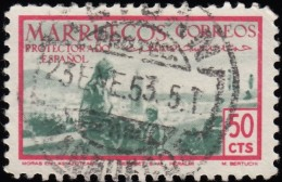 SPANISH MOROCCO - Scott #311 On The Rooftop / Used Stamp - Spaans-Marokko