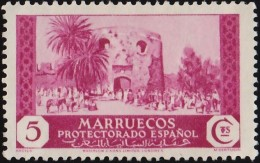 SPANISH MOROCCO - Scott #146 Gate In Town Wall, Arzila / Mint NG Stamp - Spaans-Marokko