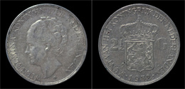 Netherlands Wilhelmina I 2 1/2 Gulden(rijksdaalder)1932 - [ 8] Monnaies D'or Et D'argent