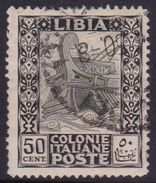 Italy-Colonies And Territories-Libya S 28 1921 ,Pictorials, 50c Ancient Galley,used - Libya