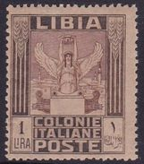 Italy-Colonies And Territories-Libya S 30 1921 ,Pictorials, 1 Lira Victory,mint Hinged - Libya