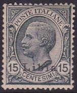 Italy-Colonies And Territories-Libya S 33 1922 ,15c Gray Type 1,mint Hinged - Libya