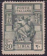 Italy-Colonies And Territories-Libya S 40 1924 ,Libyan Sibyl,20c Green Mint Hinged - Libya