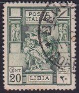 Italy-Colonies And Territories-Libya S 40 1924 ,Libyan Sibyl,20c Green Used - Libya