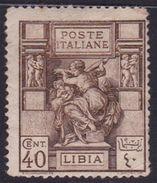 Italy-Colonies And Territories-Libya S 41 1924 ,Libyan Sibyl,40c Brown Mint Hinged - Libya