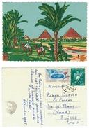 Egypte // UAR //  Carte Spéciale Dessinée Des Pyramides - Egypte