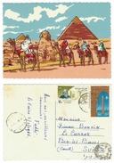 Egypte // UAR //  Carte Spéciale Dessinée Des Pyramides - Egitto