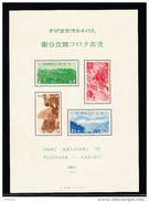 JAPON BLOC 7 * MH, TIMBRES ** MNH, PARC NATIONAL DE TUGITAKA - TAROKO. (5CT45) - Blocks & Sheetlets