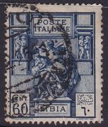 Italy-Colonies And Territories-Libya S 42 1924 ,Libyan Sibyl,60c Blue,used - Libyen