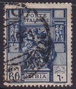 Italy-Colonies And Territories-Libya S 42 1924 ,Libyan Sibyl,60c Blue,used - Libya