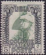Italy-Colonies And Territories-Libya S 46 1924-29 ,Pictorials,5c Roman Legionary,Mint Never Hinged - Libya
