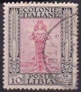 Italy-Colonies And Territories-Libya S 47 1924-29 ,Pictorials No Watermark,10c Diana Of Ephesus,used - Libyen