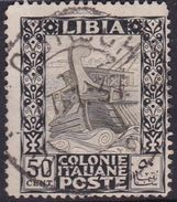 Italy-Colonies And Territories-Libya S 51 1924-29 ,Pictorials No Watermark,50c Ancient Galley,used - Libya