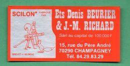 ETS DENIS BEURIER JM RICHARD 70290 CHAMPAGNEY / AUTOCOLLANT - Autocollants
