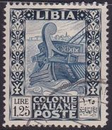 Italy-Colonies And Territories-Libya S 105 1931 Ancient Galley 1,25 Lira,perf 14,used - Libyen