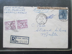 Canada - Malta 1957 Nachporto / R Sliema (Malta) No 0518. Prince Of Wales. Open Or Damaged / Zensur?! Toller Beleg!! - Malta