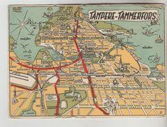 CPSM TAMPERE (Finlande) - Carte Plan De La Ville - Finnland
