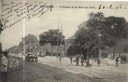 ROUBAIX  L'Octroi Et La Rue De Lille Personnages Attelage Recto Verso - Roubaix
