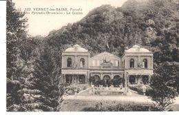 POSTAL   VERNET LES BAINS  -FRANCIA  - PARAISO DE LOS PIRINEOS ORIENTALES -EL CASINO - Francia