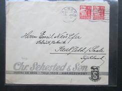 Dänemark 1940 Zensurpost OKW Geöffnet. Chr. Sehested. Tempo. Firmenlogo Bulle. Skotoj En Gros - Cartas
