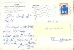 SECAP CODÉE 18  VIERZON-ENTREPOT CHER FLAMME GAUCHE 5 LIGNES ONDULÉES W Du 19-10-1967 - Poststempel (Briefe)