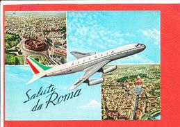 AVION Saluti Da ROMA   Cpm Mutivues          Edit Vietata - 1946-....: Ere Moderne