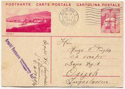 VEVEY - SWITZERLAND, Seal AARAU, ILLUSTRATED STATIONERY 1934. USED - Interi Postali