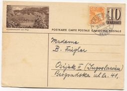 KUSSNACHT / AM RIGI - SWITZERLAND, Seal ZURICH, ILLUSTRATED STATIONERY 1948. USED - Interi Postali