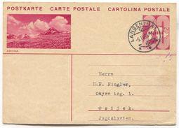 AROSA - SWITZERLAND, Seal LANGENTHAL, ILLUSTRATED STATIONERY 1933. USED - Interi Postali