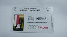 Austria-(f13)-salzburger Festspiele-(604l)-tirage-2.650-used Card+1 Card Prepiad Free - Austria